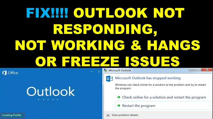 outlook not working