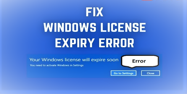 windows licence will expire soon