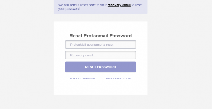 Change Protonmail Password